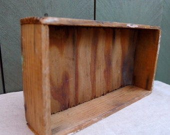 vintage wooden handmade box - catch all - mini storage