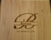 PERSONALIZED Cutting Board - Initial or Name - Bamboo