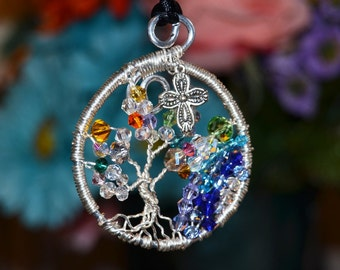 """Tree of Life """"Living Water"""" Crystal Woman's Pendant  FREE SHIPPING"""