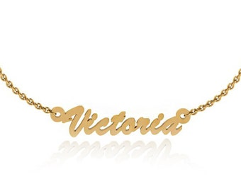 Personalized Name Necklace in Yellow Gold