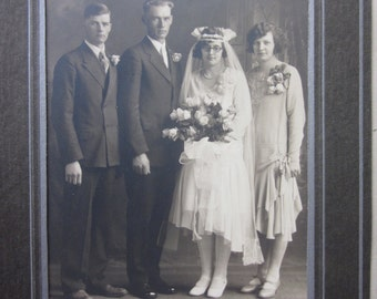 antique wedding portrait folio