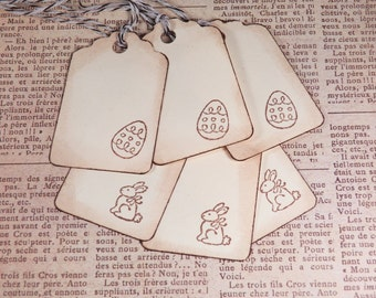 Easter tags paper tags holiday tags set of six