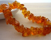 Stunning madeira citrine hammer faceted nugget beads 7-11mm 1/2 strand