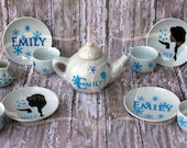 Children's Ceramic Tea Set, PERSONALIZED