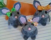 Bunny Finger Puppet / whimsy / puppet / valentine's day / Easter / gift / carrot box /