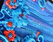 Alice in Wonderland Garden Journal - Polymer Clay Design