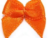 50 pcs 20mm Satin ribbon bow wedding card baby shower Orange (13-11-111)
