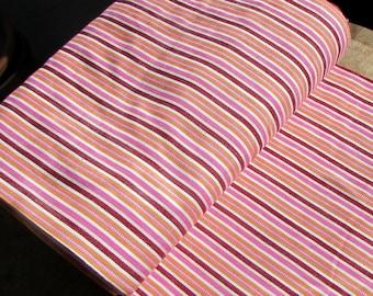 Guatemalan Fabric in Spring Pink and Orange