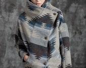 Winter Coat - Gray Printed (M233)