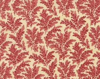 Atelier - Floral Foliage in Linen Scarlet by 3 Sisters for Moda Fabrics
