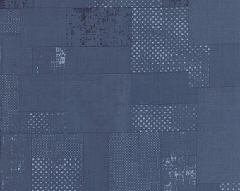 Garden Project - Polka Patch in Blueberry by Tim & Beck for Moda Fabrics