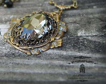 The Queen's Crown Vintage Brass Necklace