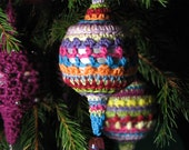 CROCHET PATTERN:  Christmas bauble, Moroccan inspired hanging ornament - Instant download .pdf