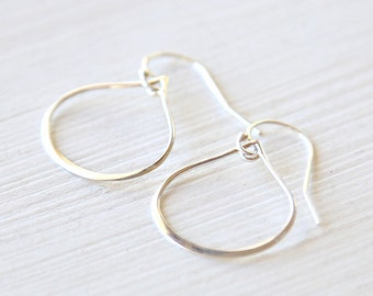 Sterling Silver Sleek Teardrop Earrings // modern delicate everyday jewelry