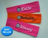 Volleyball Stretch Headband PERSONALIZED and FULLY CUSTOMIZABLE with your name and colors and many sports available