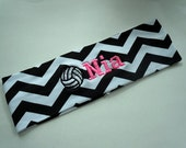 Volleyball CHEVRON Stretch Headband PERSONALIZED and CUSTOMIZABLE with your name and colors and many sports available