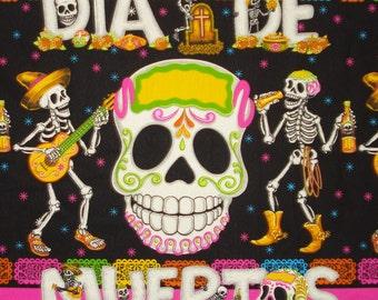 Day of the Dead Fabric Banner Sugar Skull Large Skull