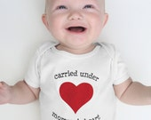 First Mother's Day, Baby gifts, white gender neutral baby gift, baby bodysuit babygrow, Mommy's Heart, baby clothes