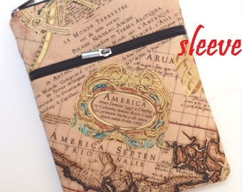 personalized SLEEVE cover for ipad / ipad mini / kindle / nook / samsung - renaissance map