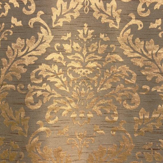 tissu damass or sellerie tissu rideau panneaux rideaux tissu. Black Bedroom Furniture Sets. Home Design Ideas