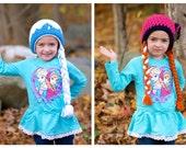 Anna and Elsa Hat Set, Frozen Hats, Frozen Sisters