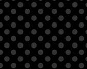 SALE - One Yard - Medium Dots in Black by Riley Blake - Tone on Tone