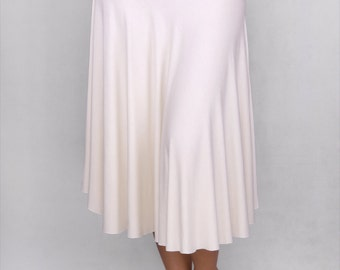 Miriam Spinning Skirt in Rayon Lycra OFF WHITE - Dance Wear, Practice Wear