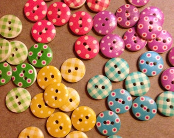 10 pk of wooden round Buttons