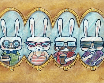 Hipster Bunny Print: Outfits