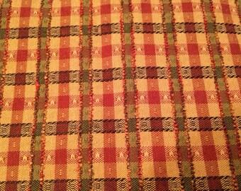 Vintage Plaid Tapestry Fabric