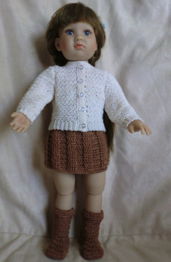Ugly Doll Knitting Pattern Free : Bjd Sweater - Bronze Cardigan