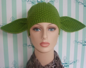 Adult female size yoda hat ( ready for shipping ).
