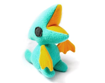 Teal and Gold Pterodactyl Plush