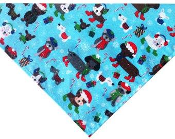 Glitter Winter Wonderland Christmas Dog Bandana