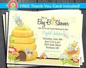 Bee Baby Shower Invitation / Bee Baby Shower Invite / Bee Invitation / Bee Party Invite