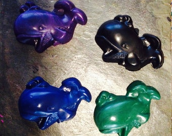 Whale crayon set of 3