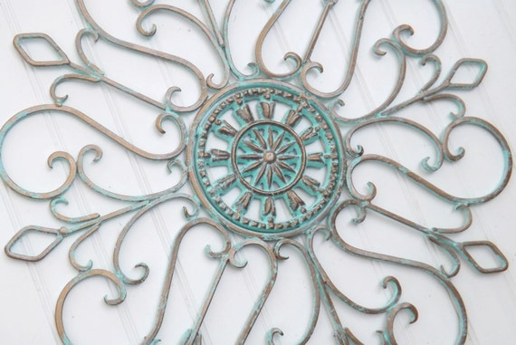 Patina / Wrought Iron / Shabby Chic Decor / Bedroom Wall Decor