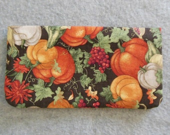 Fabric Checkbook Cover - Harvest Time