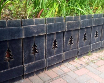 Shutter Headboard Cedar Wood Seven 7 For King Size or Windows Beach House Wall Decor by Castawayshall
