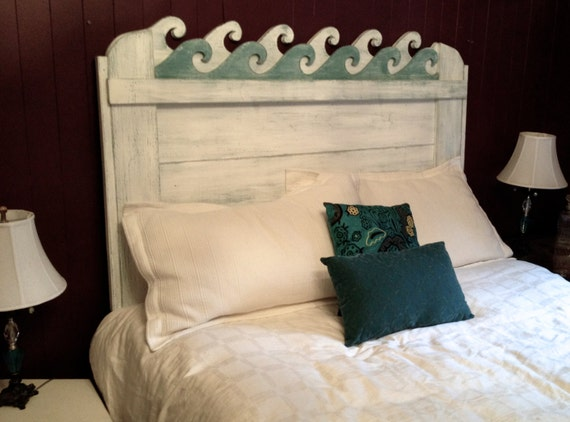Waves Headboard | Handmade Decor For Decorating A Beach House