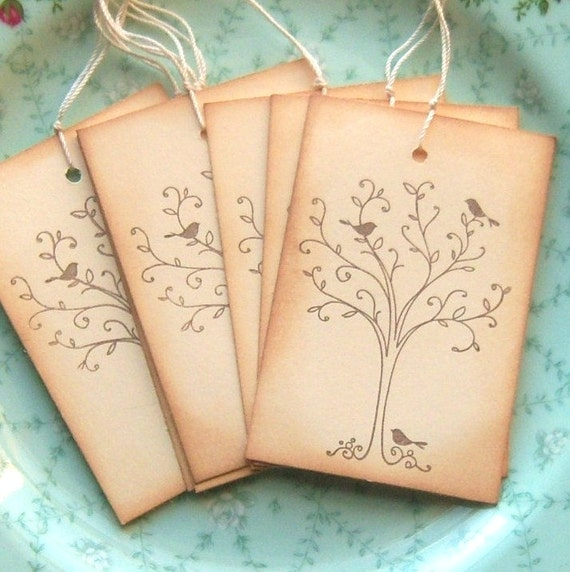 Little Birds in a Tree - Vintage Inspired Hang Tags