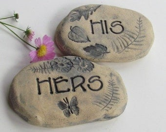 Ceramic herb plaque plant markers - Funny Garden Sign Etsy