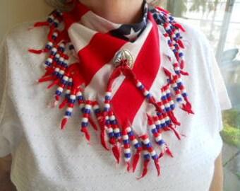 Bandanas, Neck Scarf, Americana II, Wearable Art, Western Wear