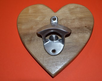 Heart  shape wall mounted Bottle Opener
