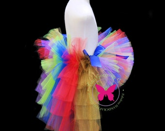Circus Carnival Bustle Tutu...Red Gold Lime Purple Bustle Tutu...Halloween Circus Tutu...Girls Mardi Gras Tutu . . . IT'S A CARNIVAL!