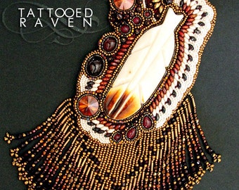 1st Place Winner Peoples Popular Vote    A Special Message for Those Who Know How To Listen : Etsy Beadweaver October Challenge Entry