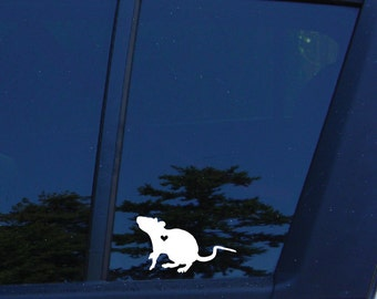 Rat Lovers Decal, rat, rodent, small animal, pocket pet