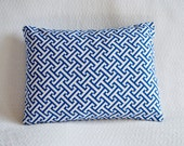 30% OFF!! Blue and White Graphic Greek Key Pillow Cover 12x16