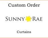 Custom Order: Megan's Bedroom/Kitchen Curtains