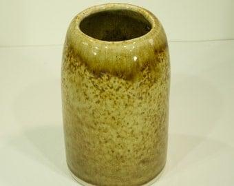 Ceramic Vase, Iron Shino, Crackle Glaze, Handmade, Ornamental Vessel, Pottery Wheel, Home Decor, MJS, 9